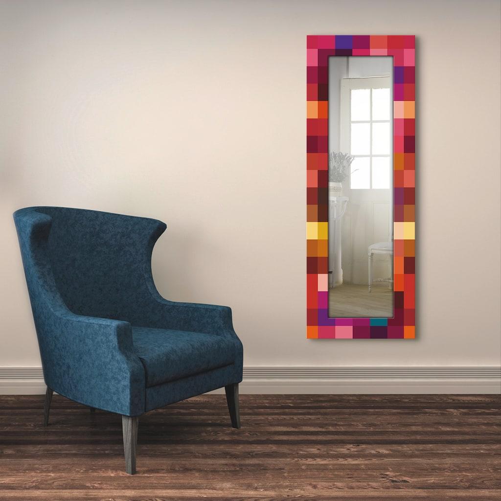 Artland Wandspiegel »Patchwork rot«