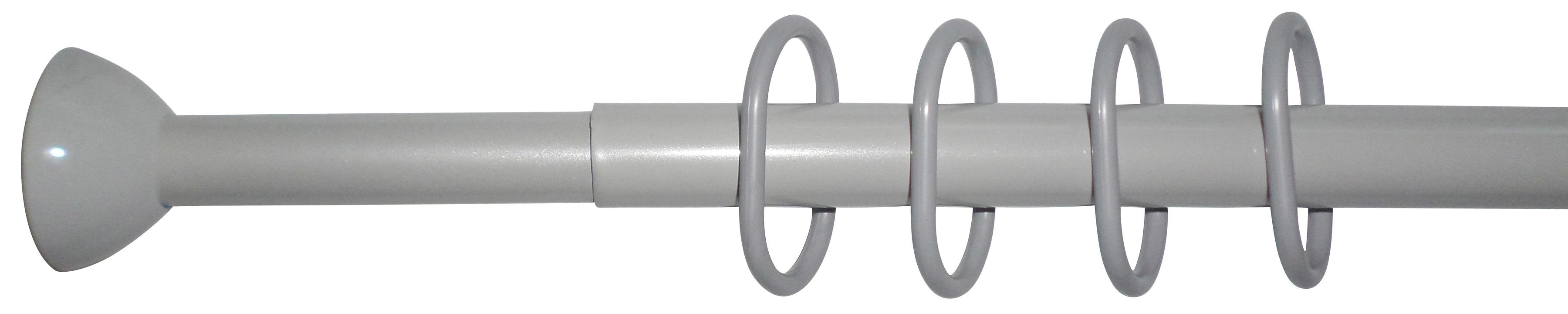 Duschstange, 120-220 cm Breite | Bad > Duschen > Duschvorhänge | Grau | Stahl | QUELLE