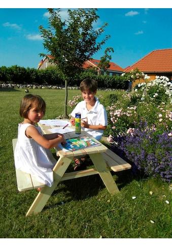 promadino Kindersitzgruppe »Limobank«, Picknicktisch, BxTxH: 90x90x49 cm kaufen