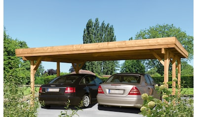 Kiehn-Holz Doppelcarport »Bochum«, Holz, 528 cm, natur kaufen