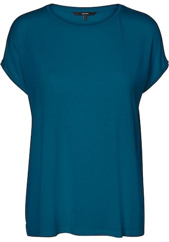 Vero Moda Curve Rundhalsshirt, Mit Ärmeln in gekrempelter Optik kaufen