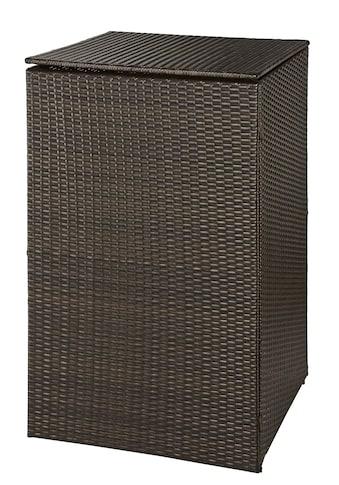 HANSE GARTENLAND Mülltonnenbox , für 1x120 l aus Polyrattan, B/T/H: 64/66/109 cm kaufen