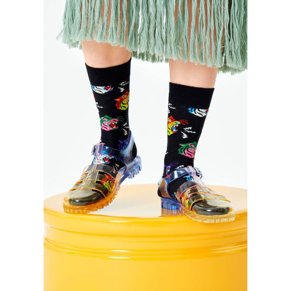 Happy Socks Socken »Tiger«, mit lustigen Tigerköpfen