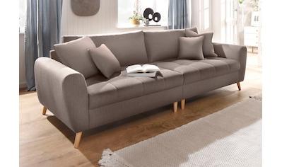Home affaire Big-Sofa »Jordsand«, mit feiner Steppung und vielen losen Kissen kaufen