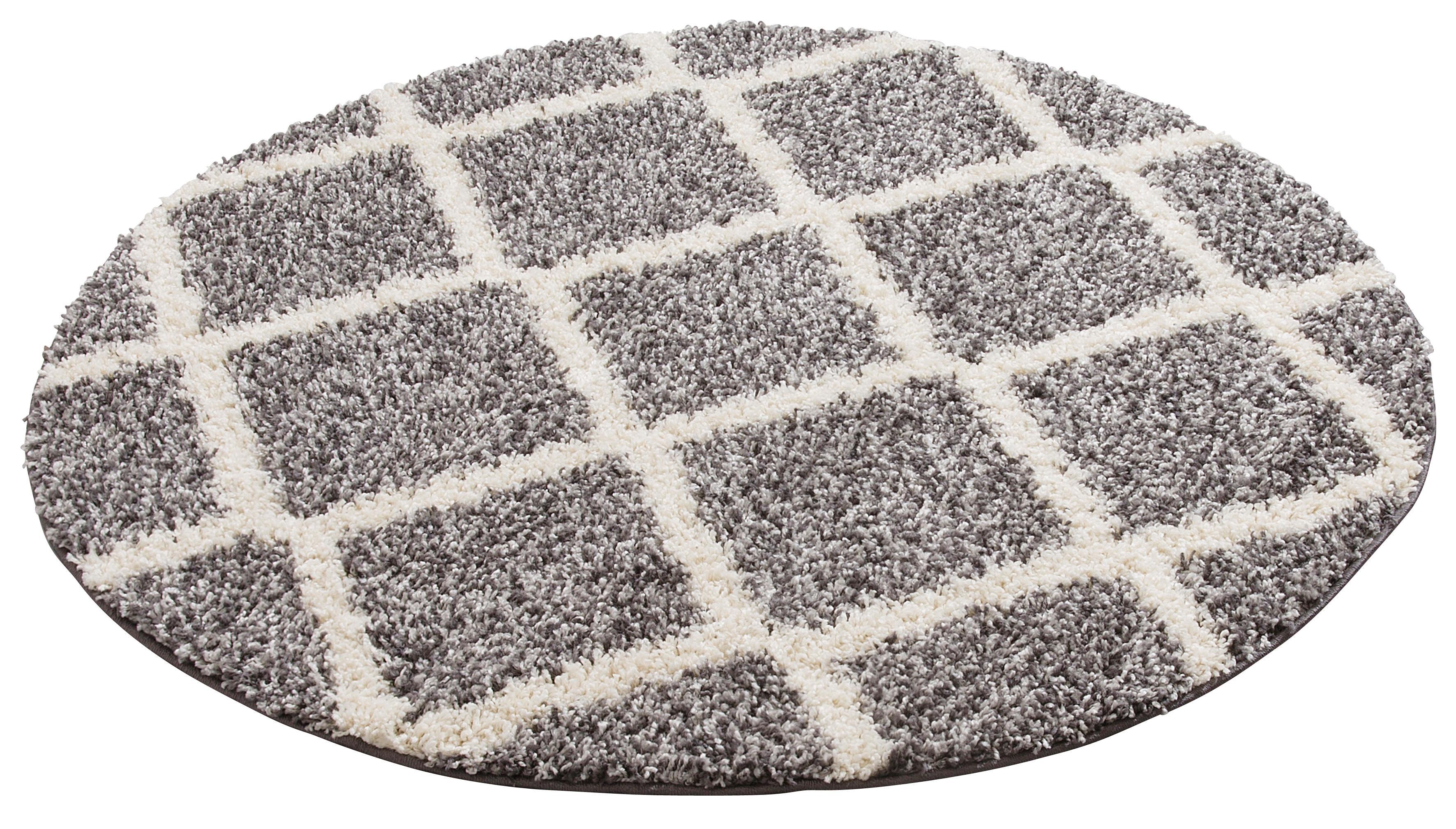 Hochflor-Teppich, »Linz«, my home, rund, Höhe 31 mm, maschinell gewebt | Heimtextilien > Teppiche > Hochflorteppiche | Grau | My Home