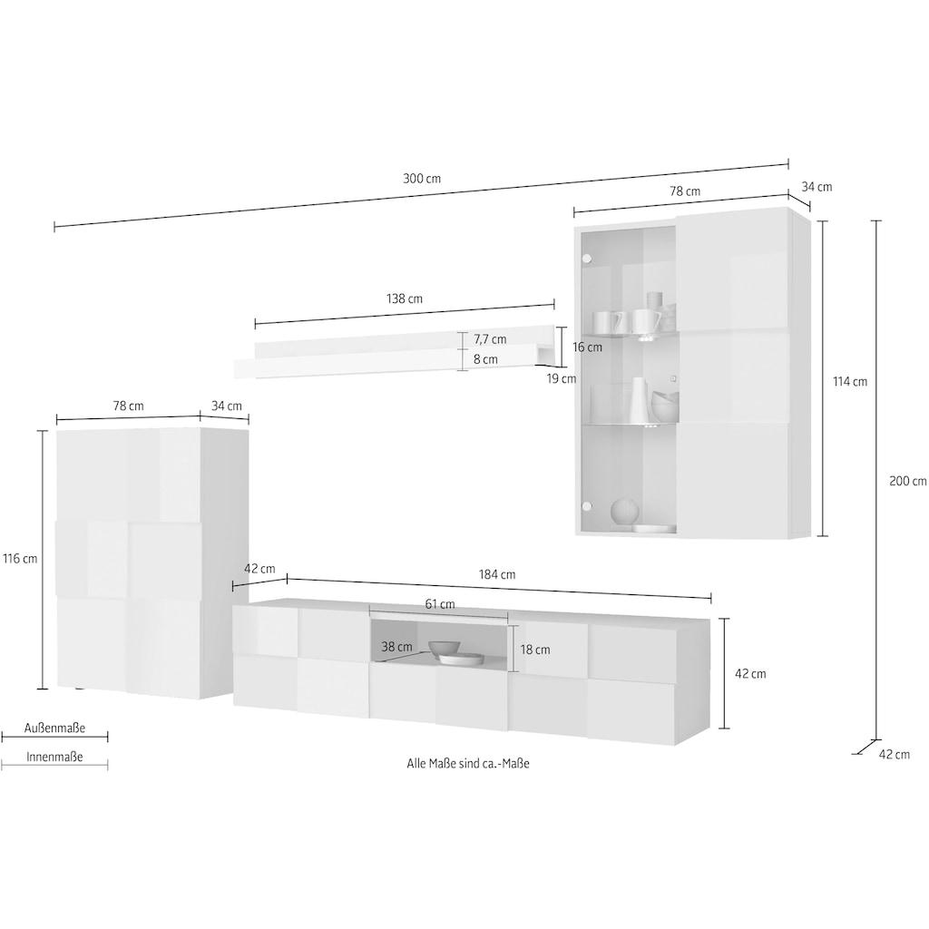 LC Wohnwand »Dama«, (Set, 4 St.)