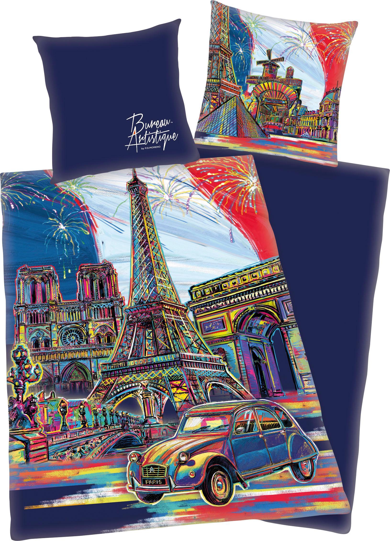 Jugendbettwäsche »Paris« | Kinderzimmer > Textilien für Kinder > Kinderbettwäsche | Bunt | Baumwolle - Satin | QUELLE