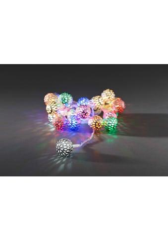 KONSTSMIDE LED-Lichterkette, 21 St.-flammig, LED Dekolichterkette, silberfarbene... kaufen