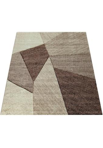 Paco Home Teppich »Brilliance 755«, rechteckig, 18 mm Höhe, Kurzflor mit 3D-Muster,... kaufen