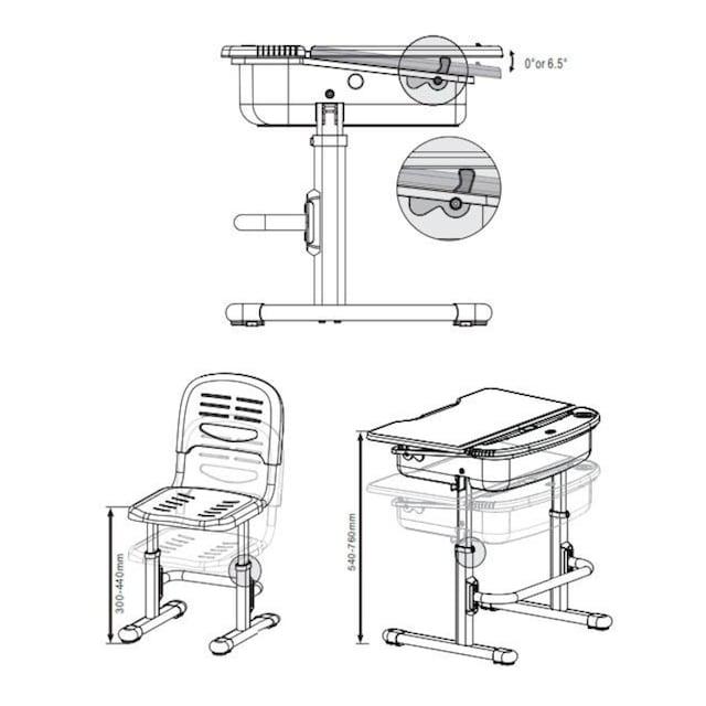 Vipack Kinderschreibtisch »Comfortline« (Set, mit Stuhl)