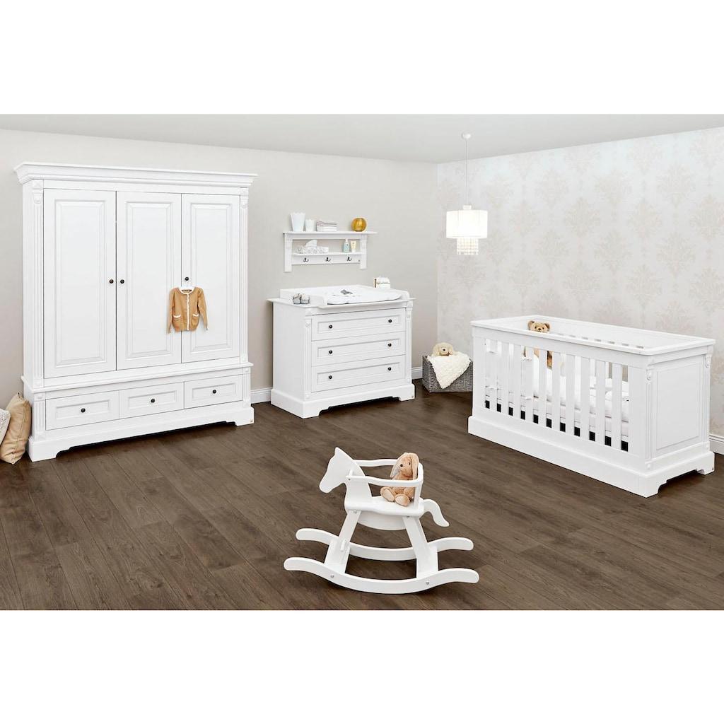 Pinolino® Babyzimmer-Komplettset »Emilia«, (Set, 3 St.), breit groß; mit Kinderbett, Schrank und Wickelkommode