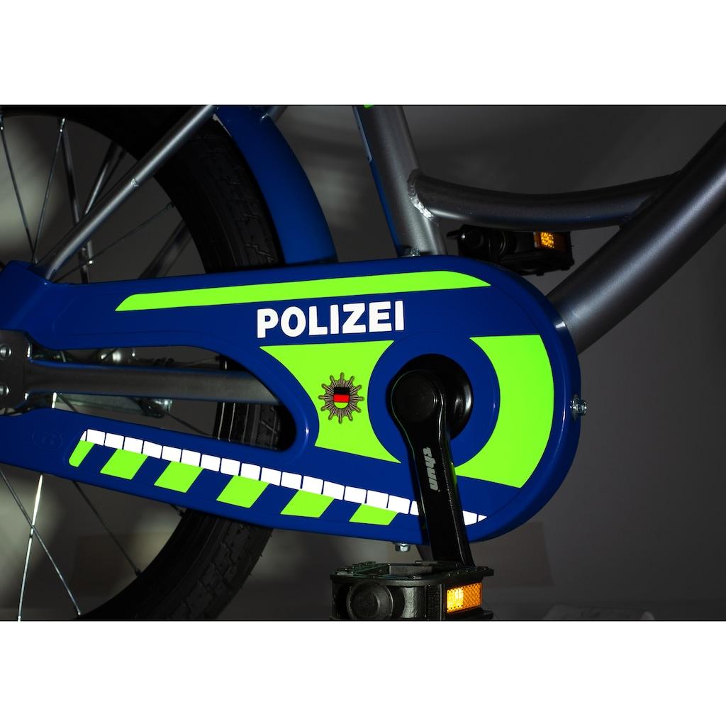 """Bachtenkirch Kinderfahrrad »Kinderfahrrad """"Polizei"""", blau/silber/neon-gelb«"""