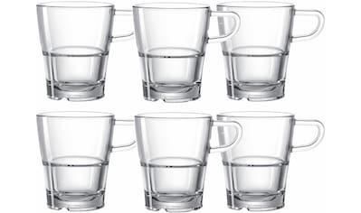 LEONARDO Tasse »SENSO«, (Set, 6 tlg.), Hitzebeständig und widerstandsfähig kaufen