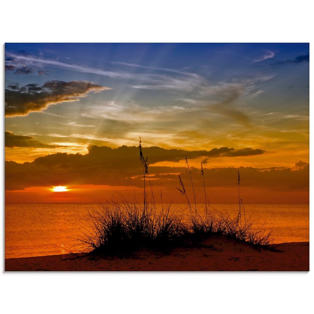 Artland Glasbild »Herrlicher Sonnenuntergang«, Sonnenaufgang & -untergang, (1 St.)