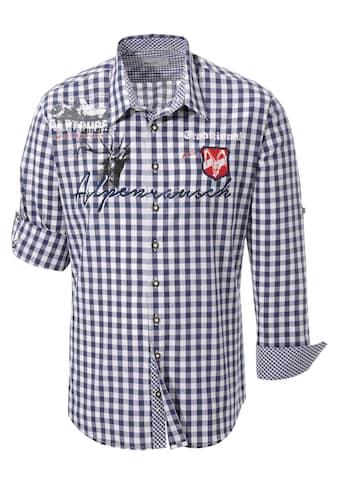 Marjo Trachtenhemd mit Aufdruck und Applikation kaufen