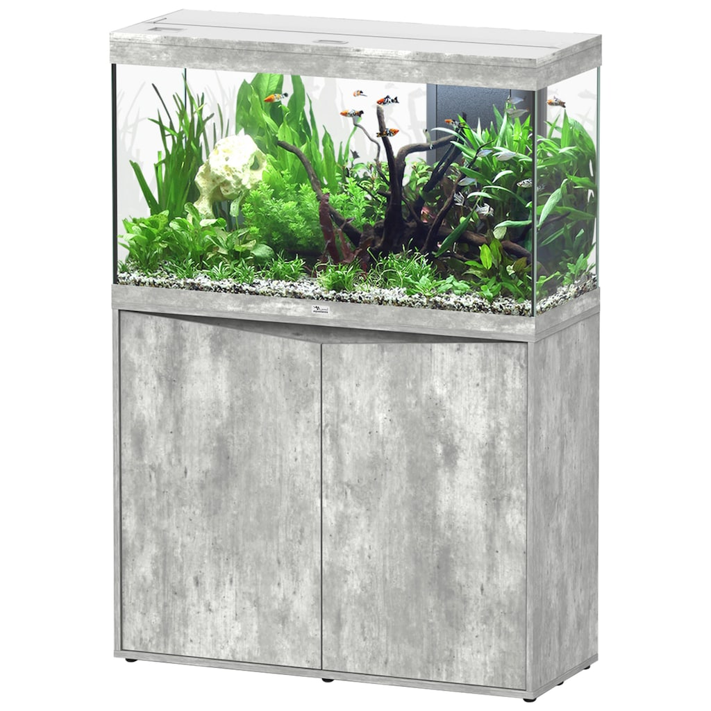 Aquatlantis Aquarien-Set »Splendid 200«, BxTxH: 102x40x144 cm, 249 l, mit Unterschrank in steinoptik