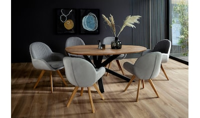 MCA living Esstisch »Kendal«, Esszimmertisch Massivholz Akazie, Tisch in Tropfenform... kaufen