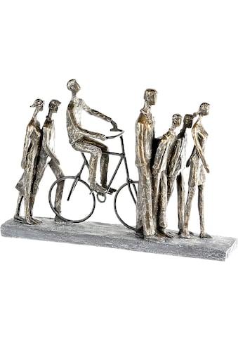 Casablanca by Gilde Dekofigur »Skulptur In the City, bronzefarben/grau«, Dekoobjekt, Höhe 29, Wohnzimmer kaufen