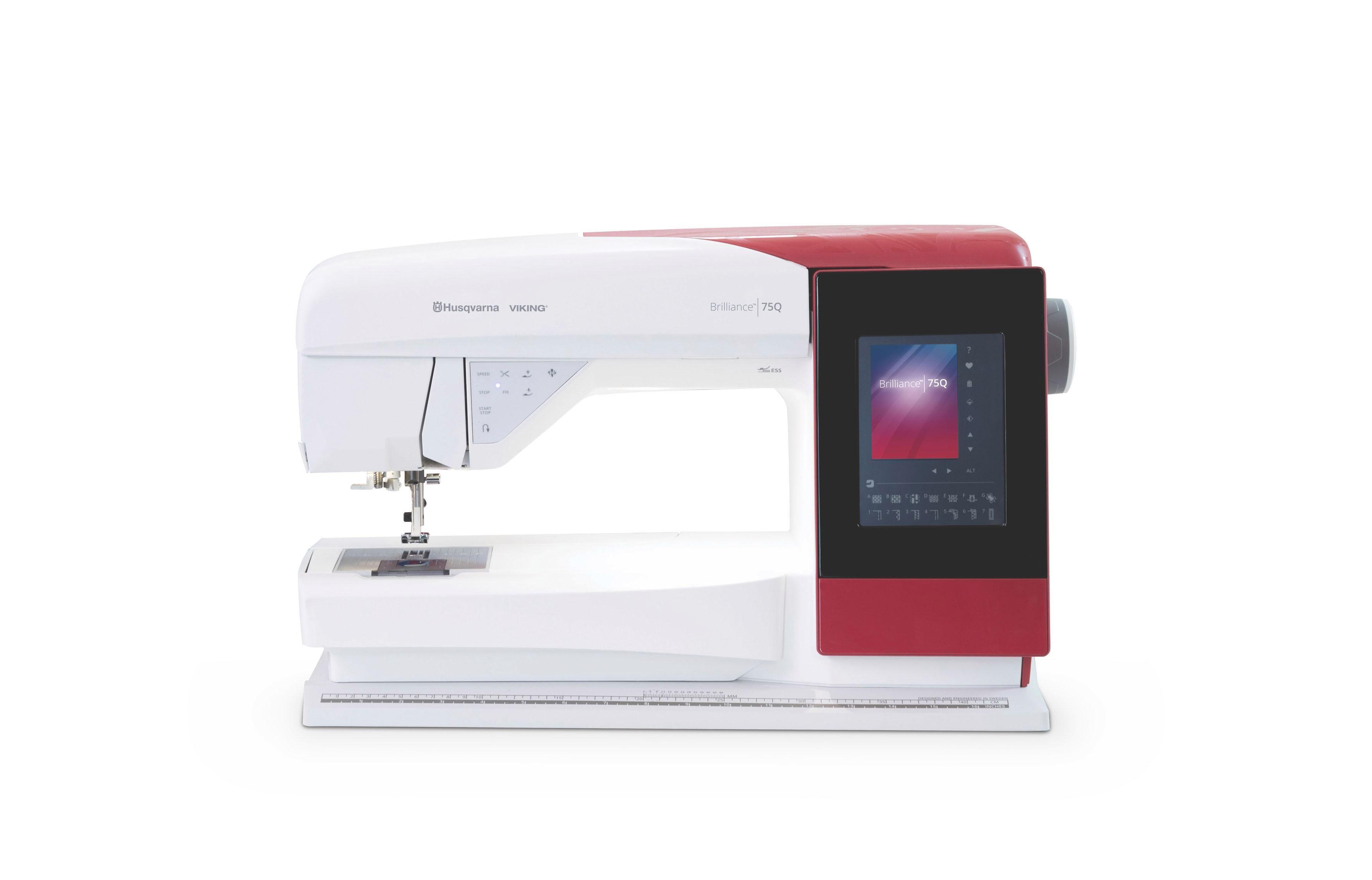 Husqvarna Computer-Nähmaschine Brilliance™ 75Q, 460 Nähprogramme   Flur & Diele > Haushaltsgeräte > Strick und Nähmaschinen   Rot   HUSQVARNA VIKING