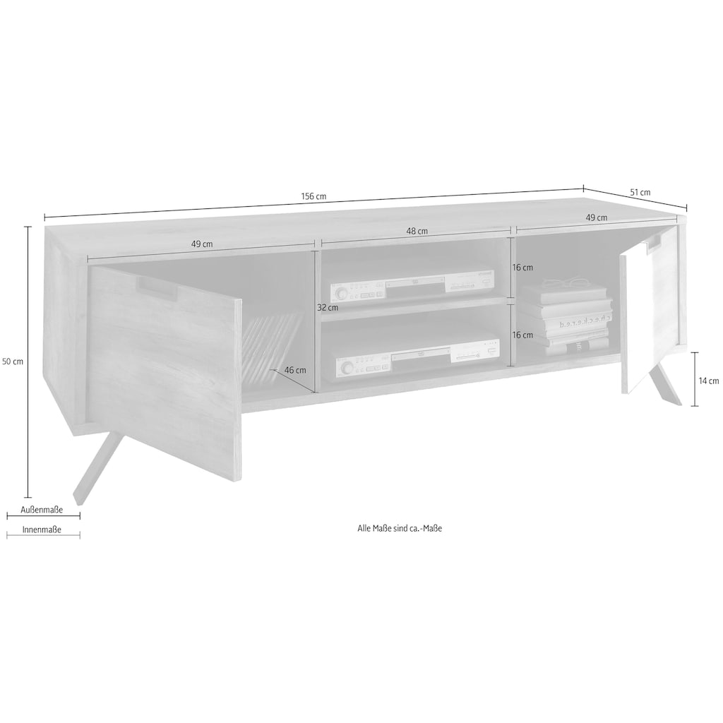 LC Lowboard »Palma«, Breite 156 cm