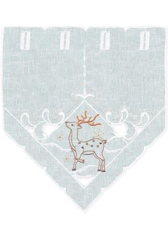 Delindo Lifestyle Scheibengardine »Winterreh«, HxB: 40x35 kaufen