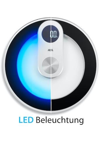 ADE Personenwaage »BE 1700 Iris«, runde Wiegefläche mit LED-Bodenbeleuchtung kaufen