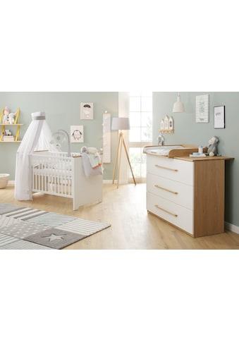 Babymöbel - Set »Tristan, weiß/eiche« (Spar - Set, 2 - tlg) kaufen