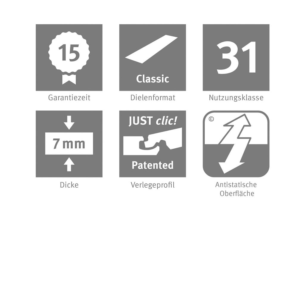 EGGER Laminat »HOME Ampara Eiche grau«, ohne Fuge, 2,481 m²/Pkt., Stärke: 7 mm