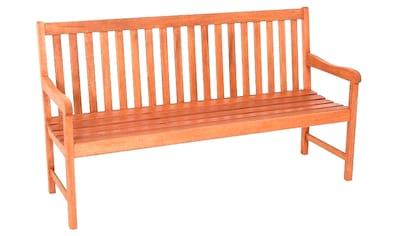 MERXX Gartenbank »Santos«, Eukalyptus, 157x89x58 cm, braun kaufen