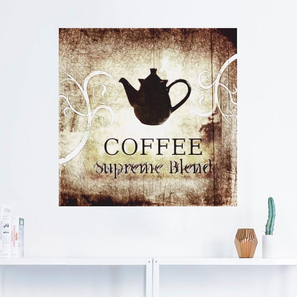 Artland Wandbild »Kaffee«, Getränke, (1 St.), in vielen Größen & Produktarten -Leinwandbild, Poster, Wandaufkleber / Wandtattoo auch für Badezimmer geeignet