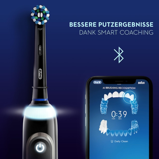 Oral B Elektrische Zahnbürste Genius X 20000 Luxe Edition, Aufsteckbürsten: 4 Stk.