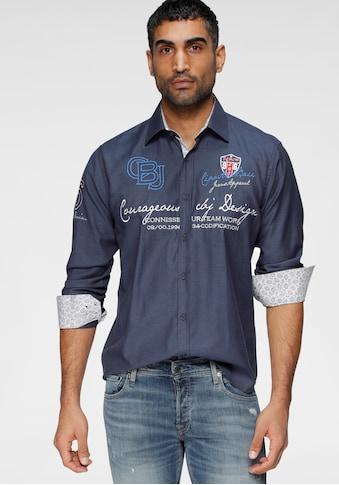 Cipo & Baxx Langarmhemd, mit aufwändigen Stickereien kaufen
