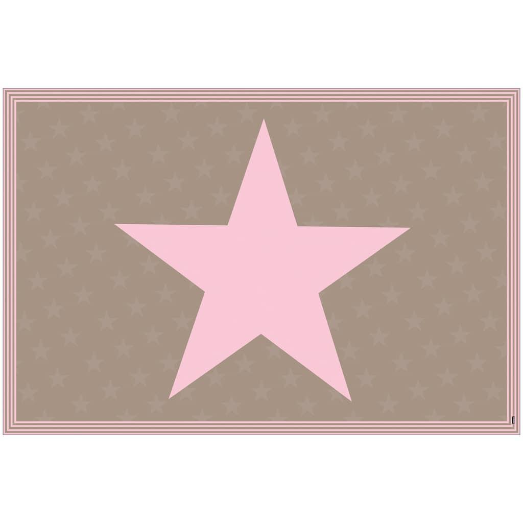 MySpotti Vinylteppich »Buddy Stella Rose«, rechteckig, 0,03 mm Höhe, statisch haftend