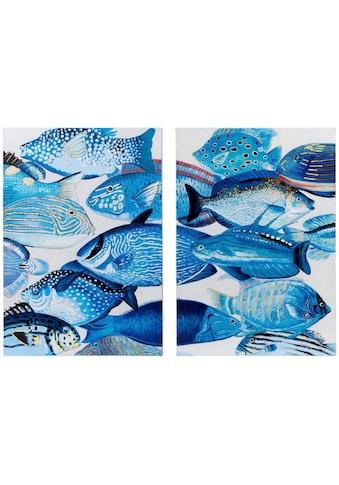 Schneider Leinwandbild, (Set, 2 St.), Motiv Fische kaufen