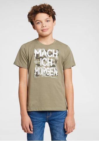 Arizona T-Shirt »Mach ich morgen«, Druck kaufen
