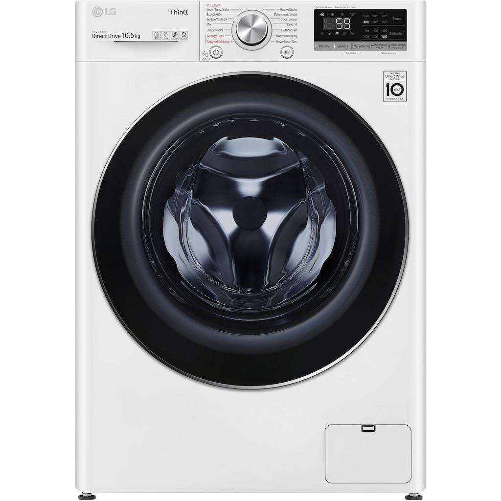 LG Waschmaschine »F4WV510S0E«, F4WV510S0E, 10,5 kg, 1400 U/min