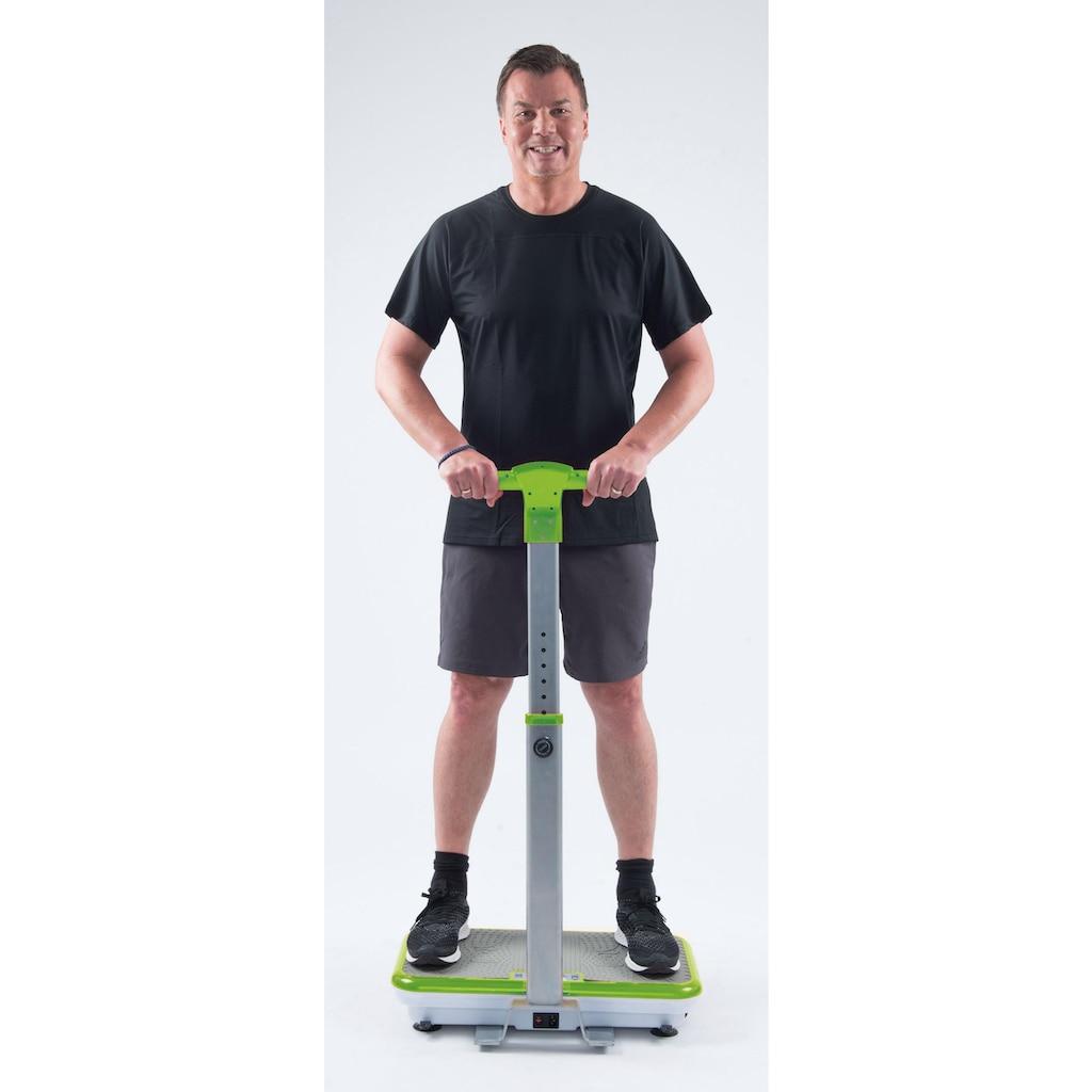 VibroShaper™ Vibrationsplatte, 200 W, 3 Intensitätsstufen, (Set, mit Trainingsbändern), mit abnehmbarer Haltestange