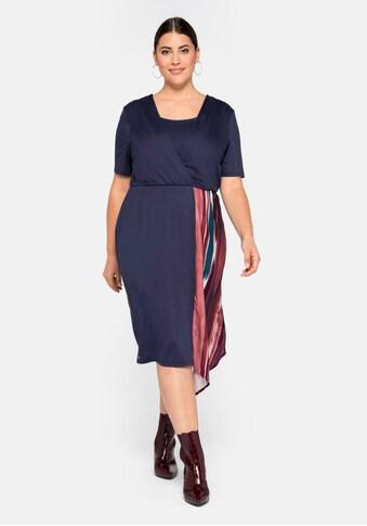 Sheego Jerseykleid, mit Zipfeleinsatz kaufen