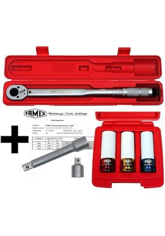 FAMEX Drehmomentschlüssel »10886-3N«, 30-210 Nm, mit Kalibrierschein kaufen