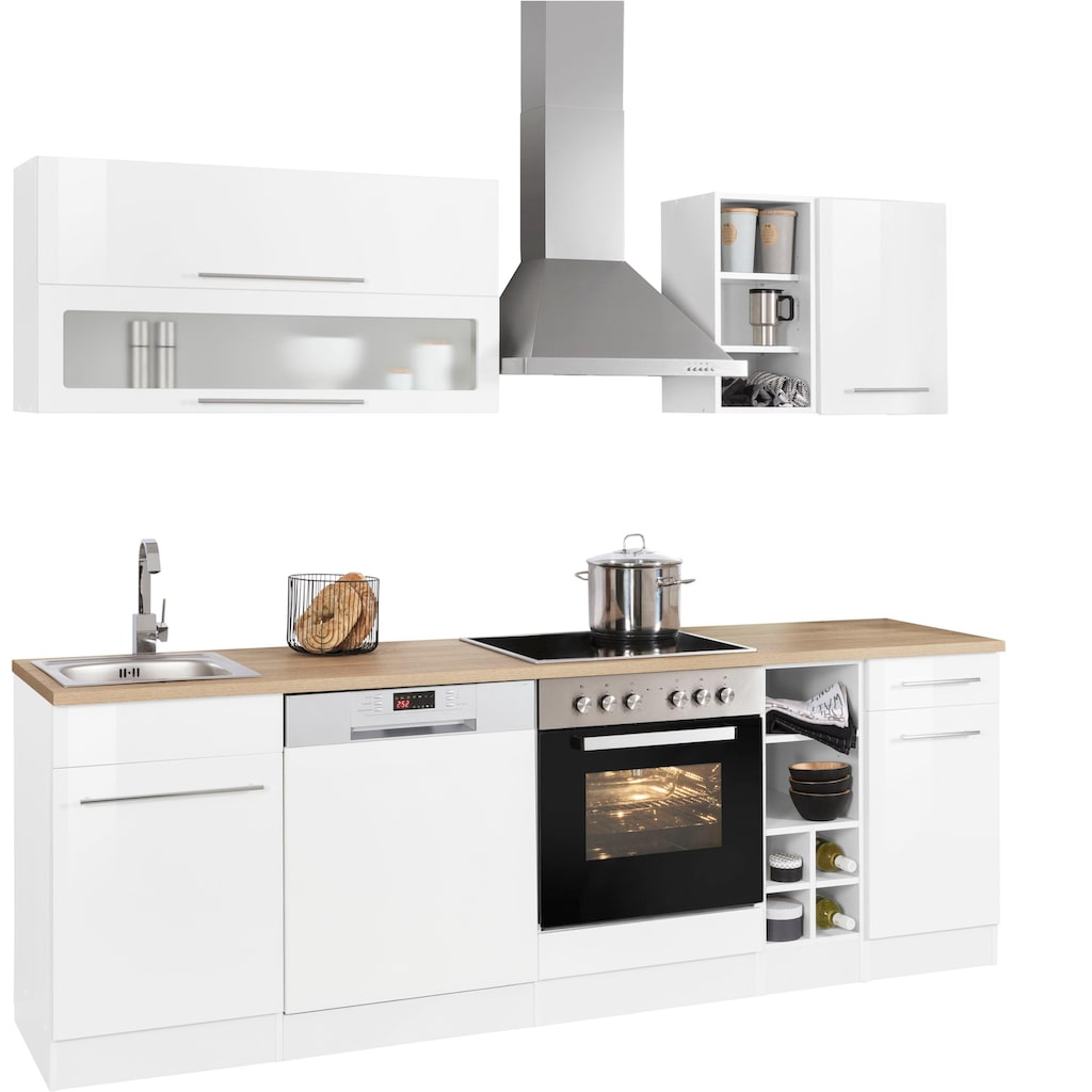 HELD MÖBEL Küchenzeile »Eton«, ohne E-Geräte, Breite 240 cm