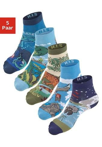 H.I.S Socken, (5 Paar), mit eingestrickten Motiven kaufen