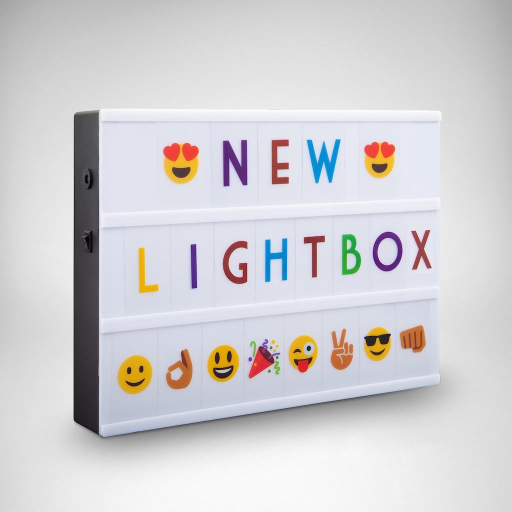 B.K.Licht LED Tischleuchte »AURORA BUNT«, LED-Board, Kaltweiß, LED Lightbox Leuchtkasten A4 Bunt USB Buchstaben Emojis Lichtbox Letterbox Deko