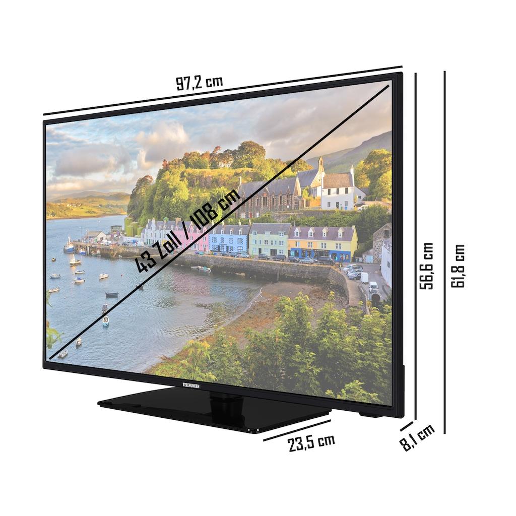 Telefunken LED-Fernseher »D43F554N2CW«, 108 cm/43 Zoll, Full HD, Smart-TV-Android TV