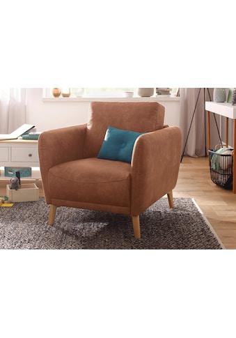 Home affaire Sessel »Ida«, mit Holzfüßen und Armlehnen-Polsterung kaufen