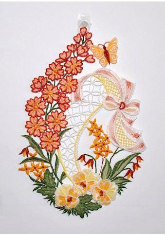 Stickereien Plauen Fensterbild »Blumenwiese«, Hakenaufhängung kaufen