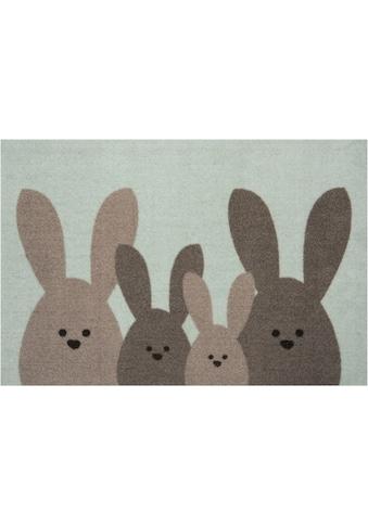 HANSE Home Fußmatte »Bunny Family«, rechteckig, 7 mm Höhe, Schmutzfangmatte, In- und... kaufen