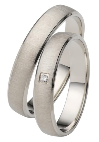Firetti Trauring mit Gravur »quergebürstet, seitlicher Diamantschnitt« kaufen