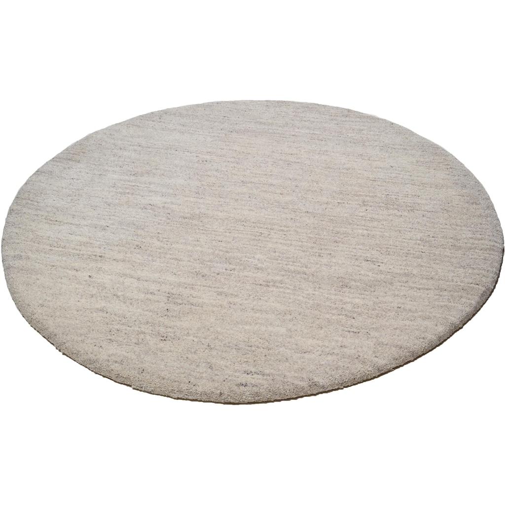 THEKO Wollteppich »Amravati«, rund, 28 mm Höhe, echter Berber, handgeknüpft