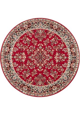 DELAVITA Teppich »Halton«, rund, 8 mm Höhe, Kurzflor, Orient-Optik, Wohnzimmer kaufen