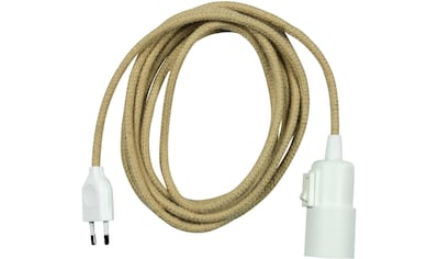 SEGULA Pendelleuchte »Pendelleuchte Weiß - schalter Kunststoff - 3m Jute Kabel«, E27,... kaufen